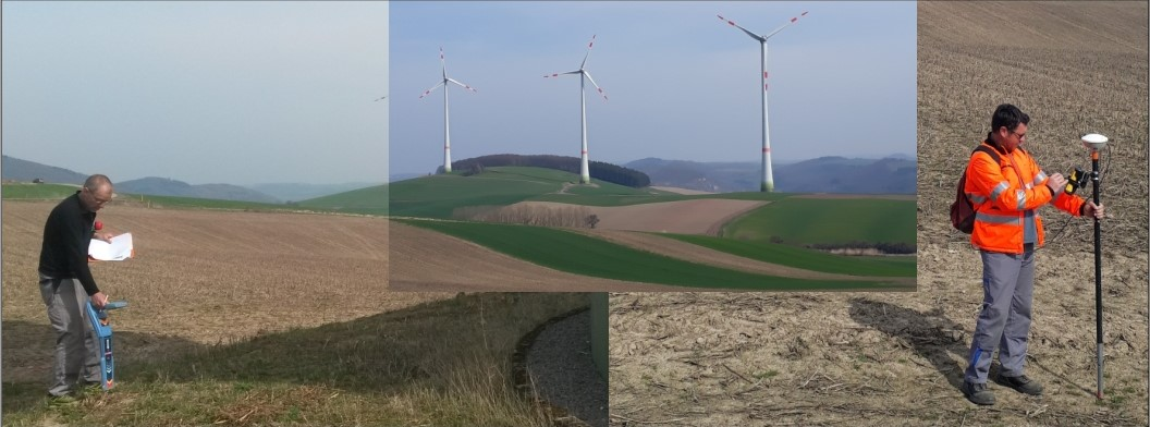 Windpark Leitungsortung
